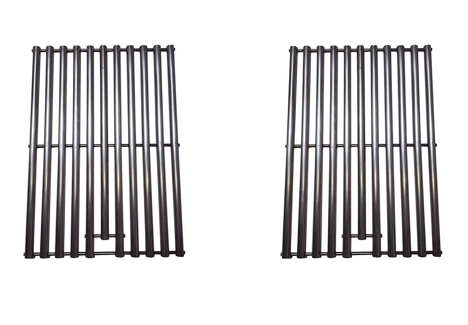 Zljoint Stainless Steel Cooking Grid Replacement for Select Gas Grill Models by Kenmore, Nexgrill and Others, Set of 2