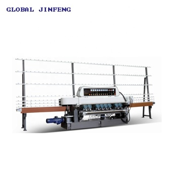Verticval glass beveling edge and polishing machine 9 motor with CE from China Factory JFB-261