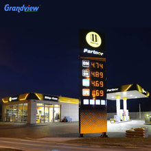 Gas Stations Sign Car Service Bay LED Price Board Canopy Fascia Digital Price Display