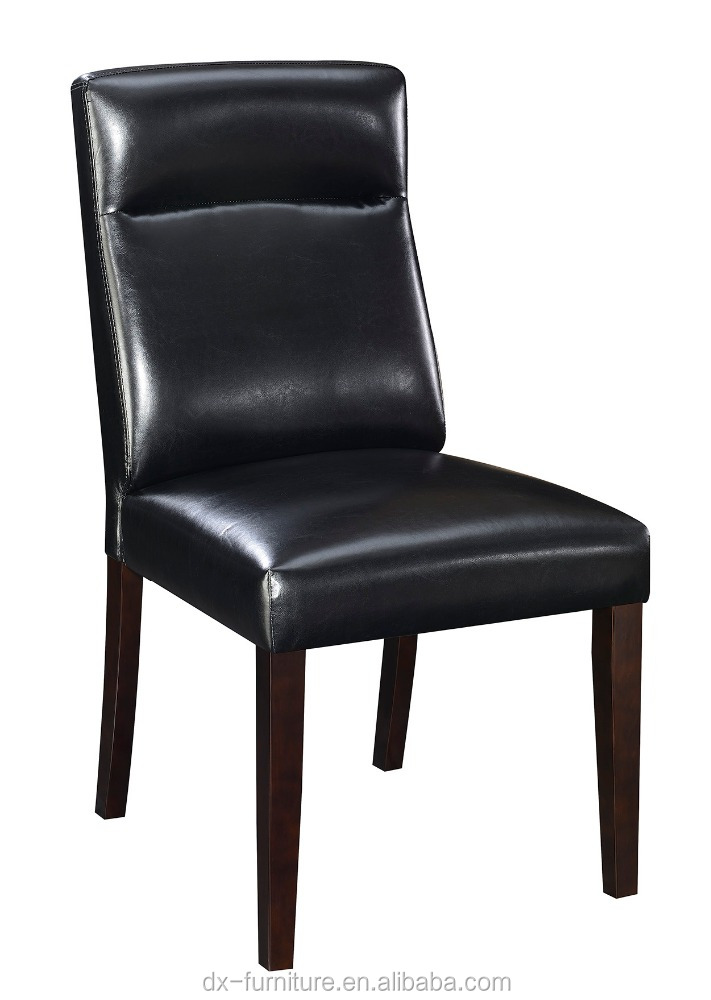 China-made western style modern dining chair, black pu