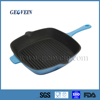 FDA Non stick square korean grill pan ,cast iron grill pan