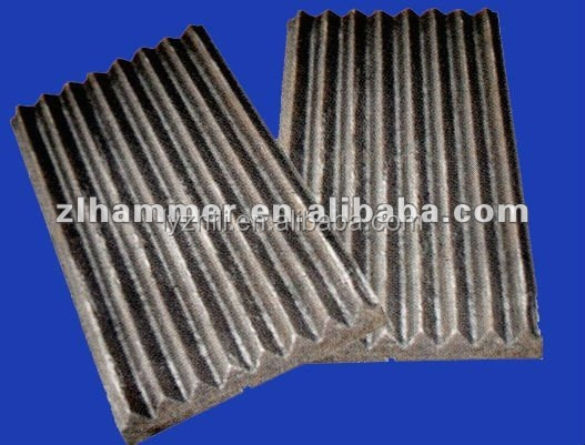 china manufacturer casting process customized rock crusher manganese jaw plate