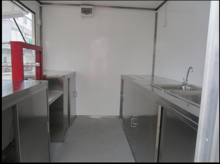 New Designed Mobile Fast Food Cart Trucks