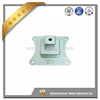 Railway tie plate, base plate for railway, base plate for underground