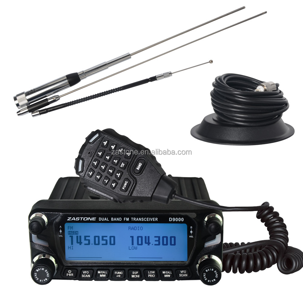 New Arrival Zastone D9000 60W Car Walkie Talkie 50km Dual Band UHF VHF Mobile Radio Communicator HF Transceiver CB Radio Station