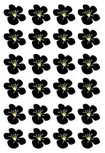 Cheap how to make edible wafer paper flowers find how to make get quotations pre cut black hawaiian flower flat edible rice wafer paper cup cake toppers party mightylinksfo