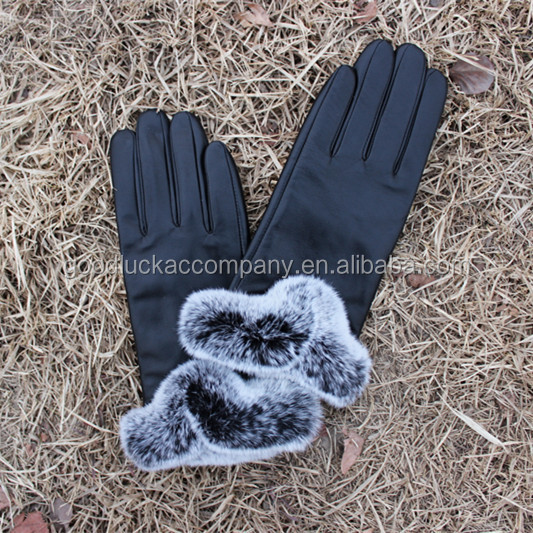 ladies leather glove wholesale cheap sheepskin leather glove