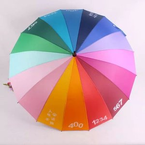 Wholesale Umbrellas! Hot Selling 16 Panel Umbrella Parts Umbrella for Rain and Sun