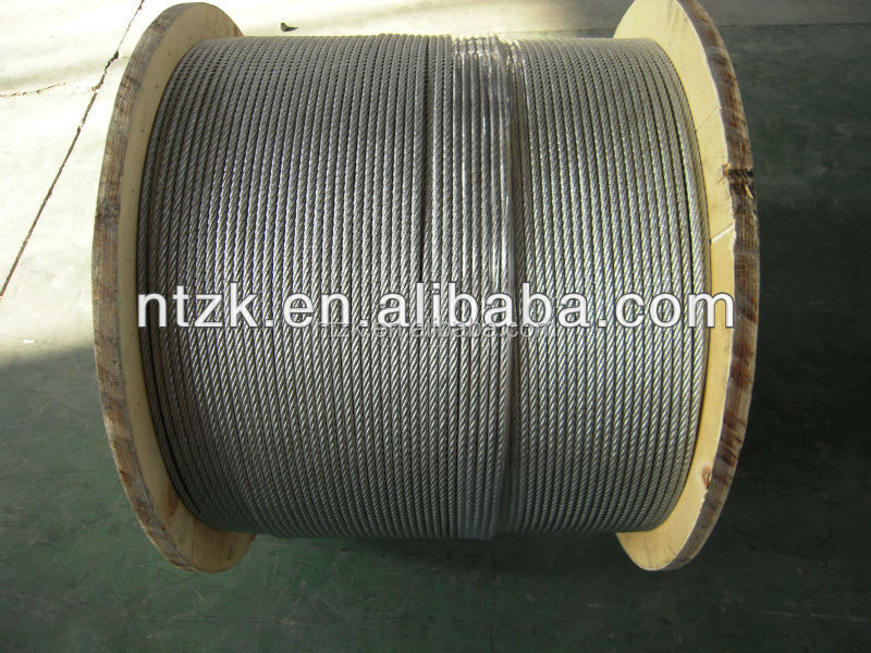 6 x 19 + IWRC hot dipped galvanized steel wire rope supply free sample