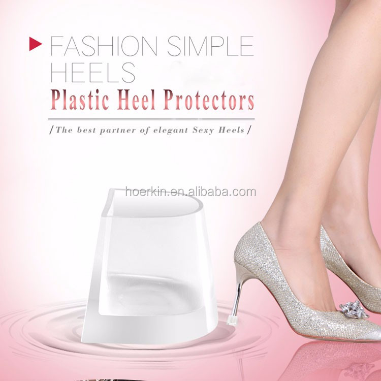 clear high heels pvc plastic high heel protector for