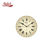 New type customizable design round shaped young town quartz wall clock