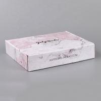 Custom e flute pink marble corrugated carton shipping box mailer