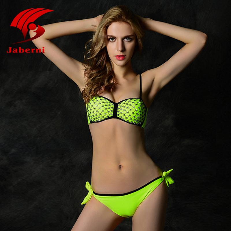 1f8ab9c74c 2015 Fluorescent Low Waist Ladies Sexy Strappy Bikini Bottoms Slim Solid  Girls Diamond Swimsuits Women Fashion Brazil Beachwear