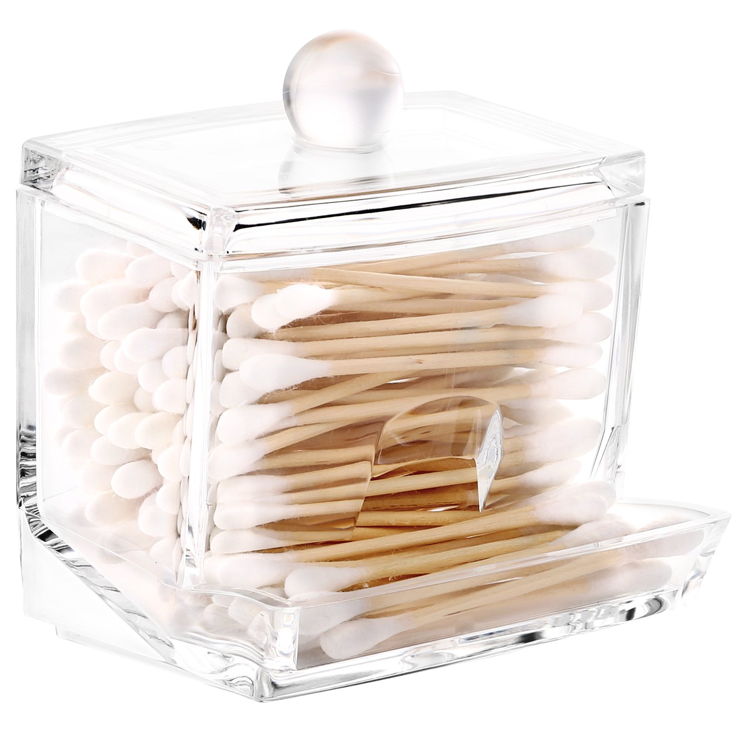 Get Quotations Acrylic Q Tip Cottonswab Storage Dispenser Luxspire Clear Cotton Ball Swab Holder Bud