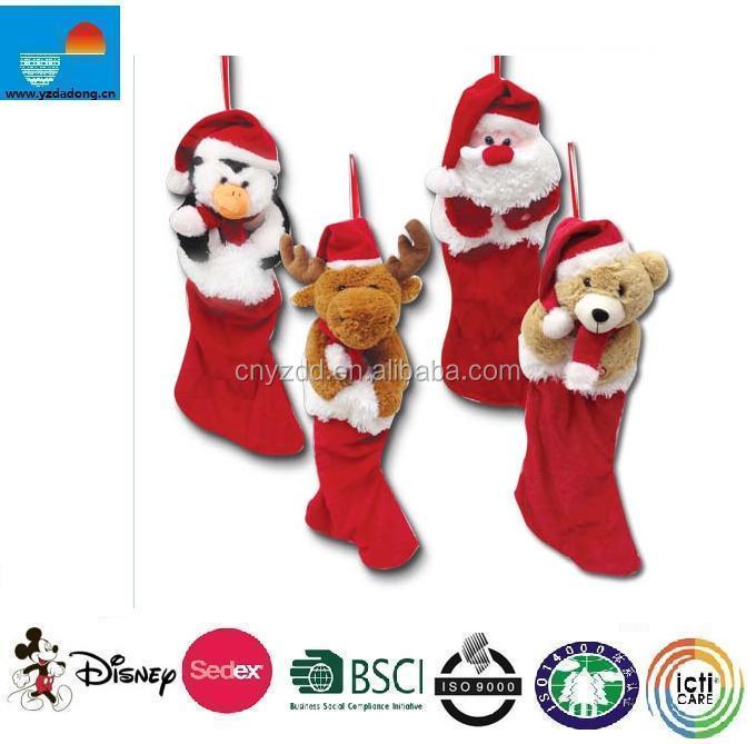 christmas plush stockingsanimal head plush christmas stockingplush christmas stockings buy christmas plush stockingsanimal head plush christmas
