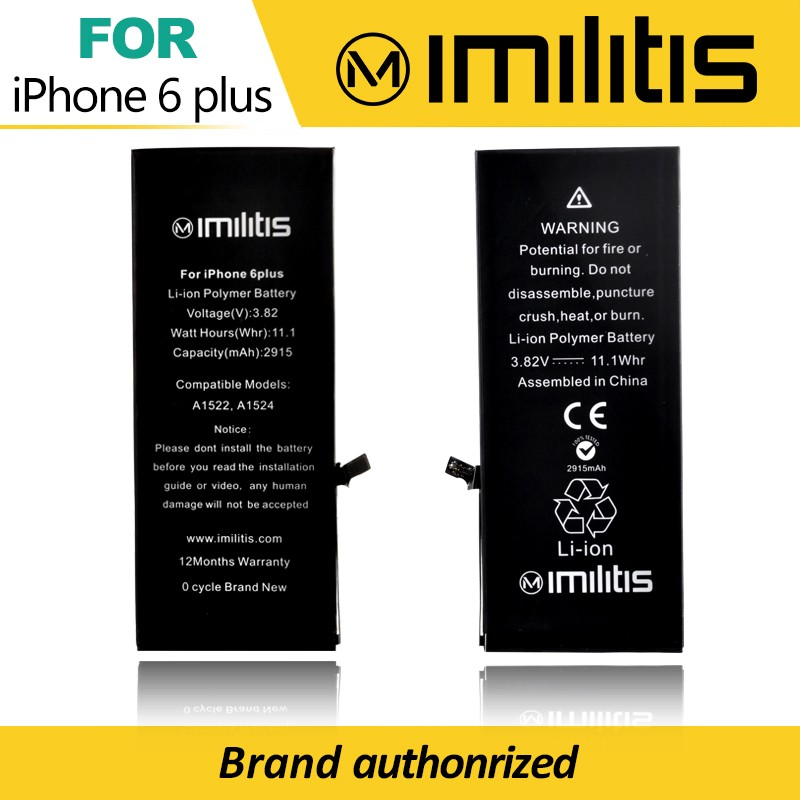 OEM Acceptable 100% 0 Cycle Original Battery Replacement For Apple Iphone 6 Plus