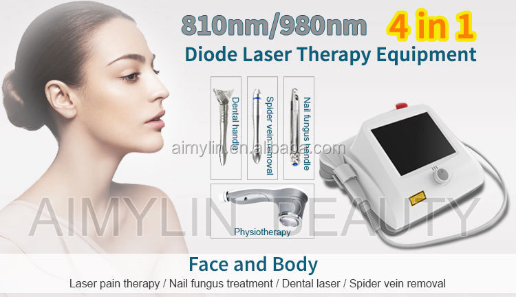 2019 Professional 60W telangiectasis red blood Vascular removal / Spider Vein removal machine /varicose vein diode laser 980 nm