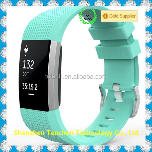 Wholesale silicone watchband link buckle for Fitbit charge 2