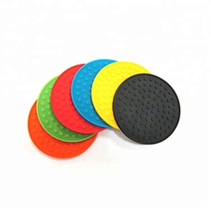 New Design Wholesale Custom Cheap Round or Square Rubber Silicone Drink Coasters