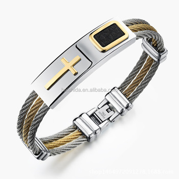 Christian gift chain in spool stainless steel jewelry bracelet competitive price