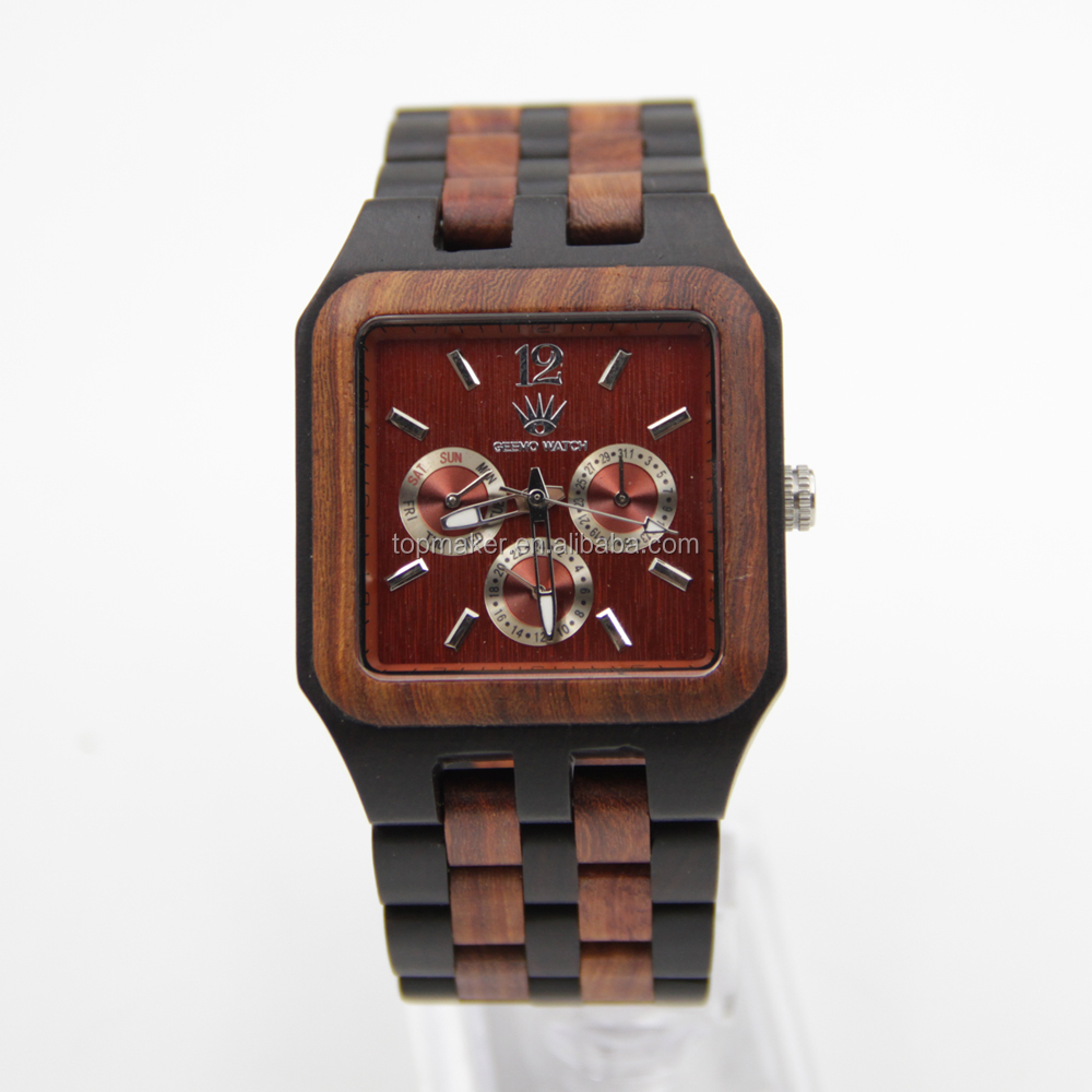 genuine watches watch buy woodenwatch leather product men custom wooden logo wood detail