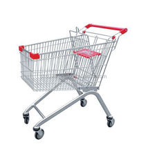 supermarket metal shopping trolley/shopping cart/chromed hand trolley