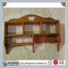 Brown Primative Wood Kitchen or Bathroom Wall Shelf