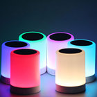 2017 vente chaude Coloré LED Light Touch Bluetooth Haut-Parleur Intelligent Musique Lampe