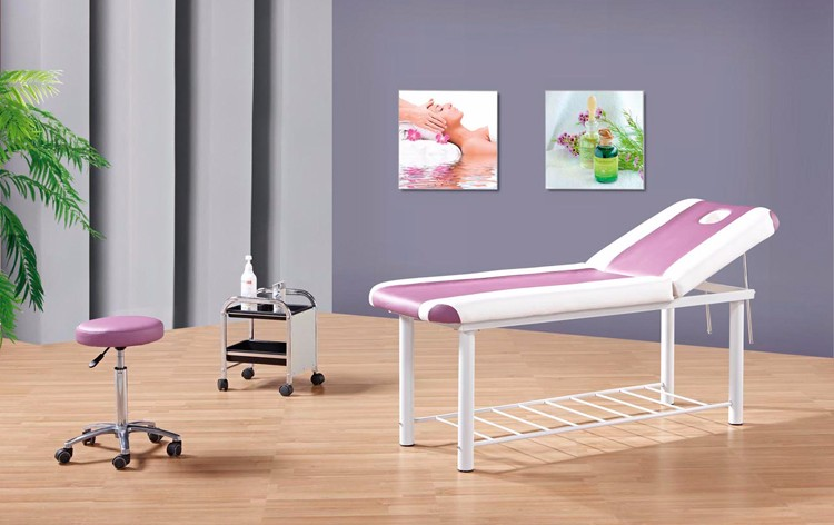 spa and nail furniture simple waxing table/beauty salon massage bed 8205