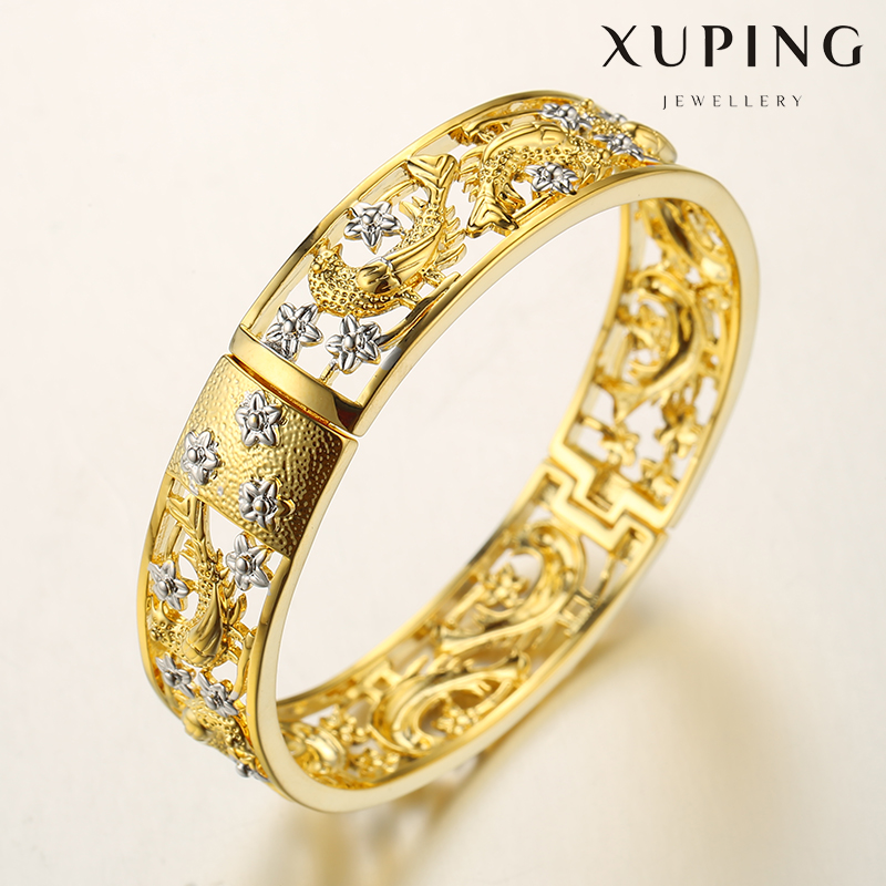 xuping jewelry 24k gold plated wedding engagement bangle for women, gold bangle price in dubai