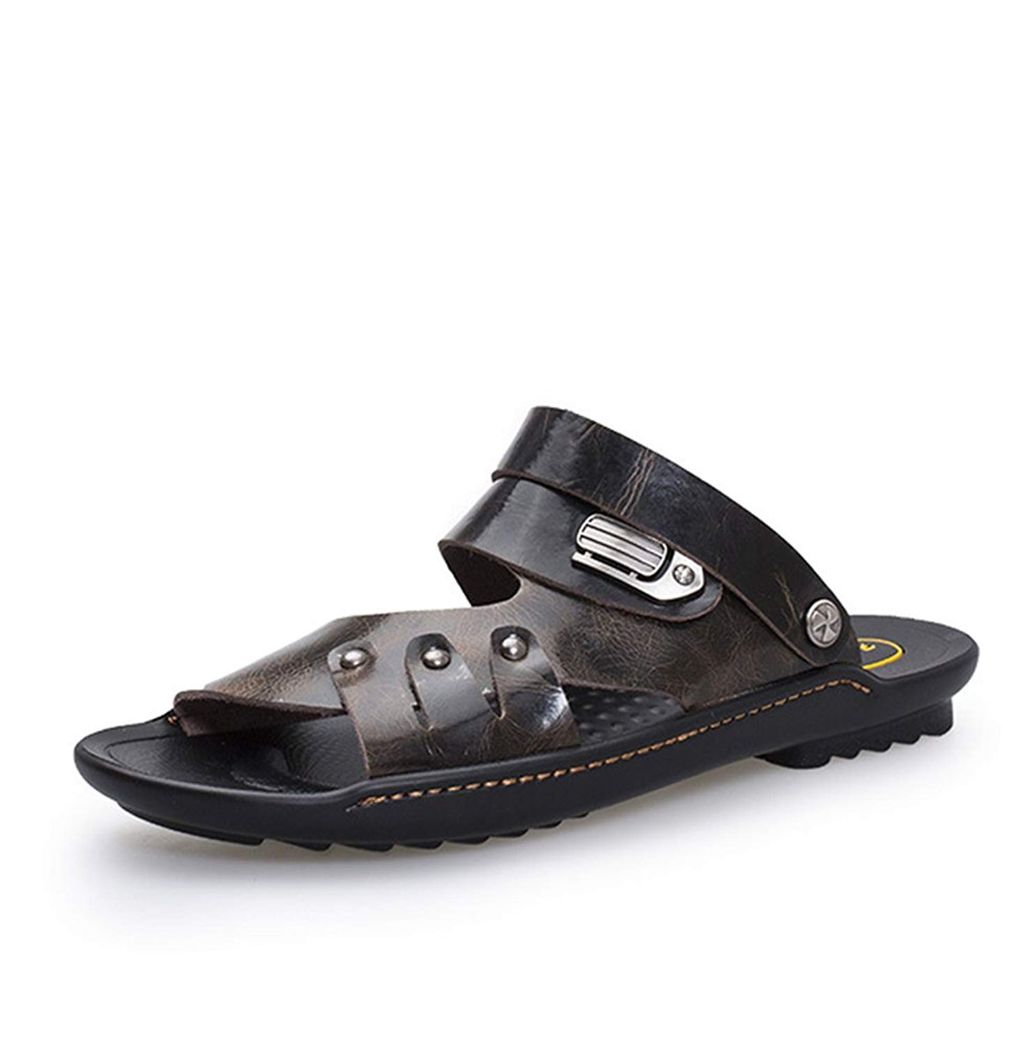 Mobnau Leather Anti-Skid Little Kids Toddler Sandals for Girls