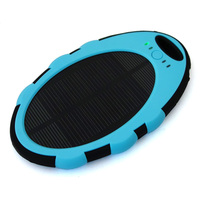 Factory price wholesale cheap promotion custom Portable 5000mah solar charger power bank, solar powerbank for mobile phone