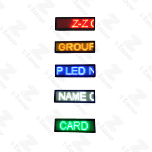 LED Programmable Name Badge Electronic LED Mini Displayer Multi-language DIY Message Price Tag