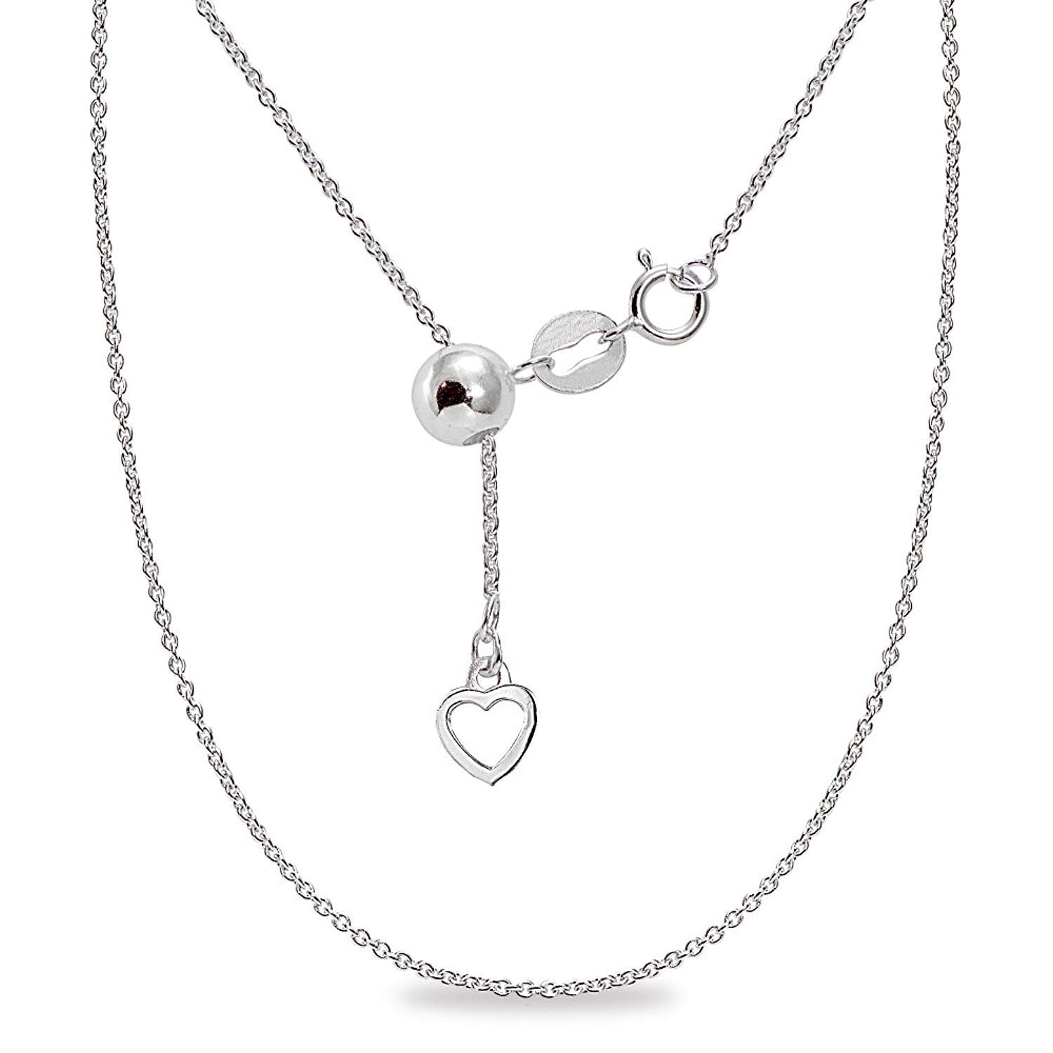 925 Sterling Silver 3mm Polished Rolo Link Chain Necklace 7-24