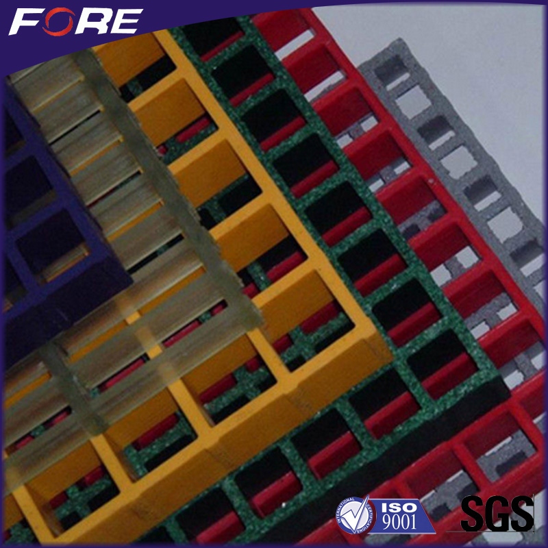 Concave surface Colorful frp trench grating frp walkway grating with high strength