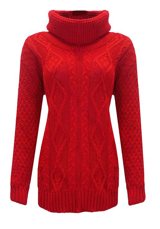 b1f7d3ebd82 Buy Girls Walk Womens Cowl Polo Neck Jumper Long Sleeves Chunky ...