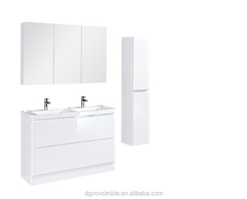 High Gloss White Clic Water Resistant Bathroom Cabinet Vanity Hotel