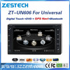 ZESTECH high quality Car head unit for 6.2 inch Universal double din car stereo with DVD GPS USB SD BT SWC A8 chipset Exporter