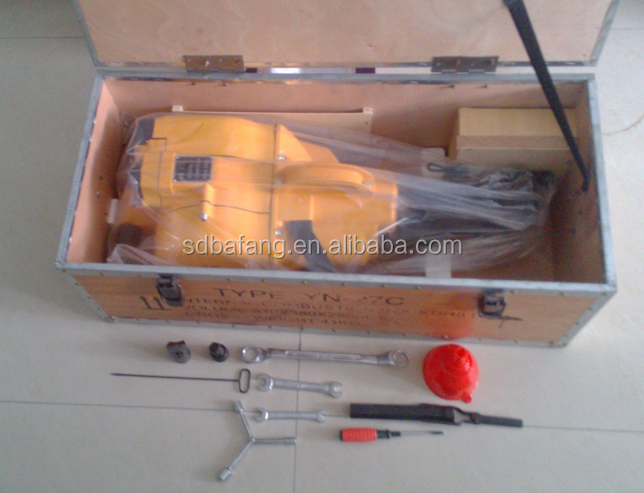 China hand held rock drill equipment yn27c rock drill rig