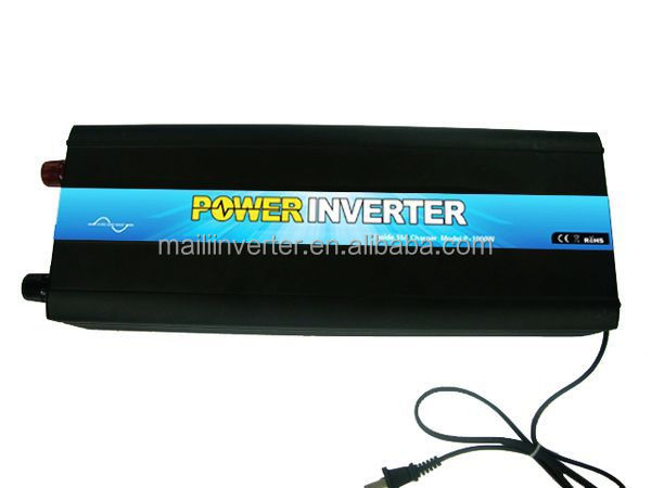 12VDC Pure Sine Wave 1000W Power Inverter with Battery Charger 12V 10A