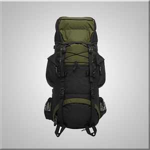 Camping hiking backpack hot wholesale with bungee stash for jackets
