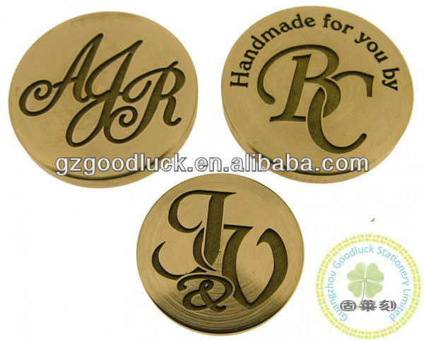 Business Pre-inking Metal Engraving Stamp/Custom Golden Shape Engraving Logo Stamp