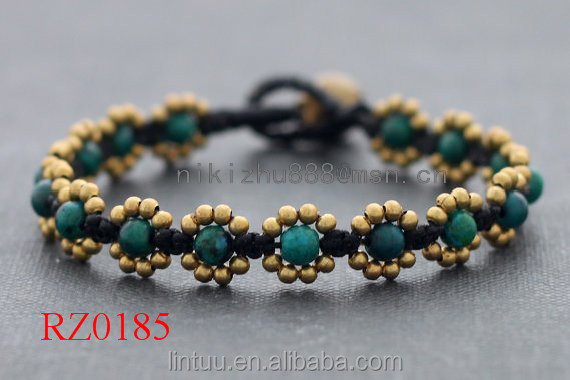 Guangdong factory jade brass bell bracelet popular female jewelry bracelet