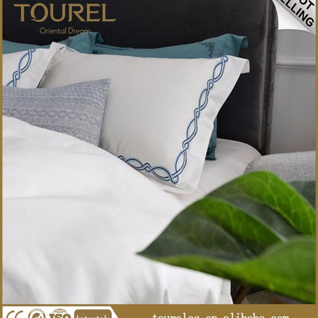 Bon Hotel Bedding/Living Sheets, 100% Cotton Polyester Plain White Hotel Bed  Sheets
