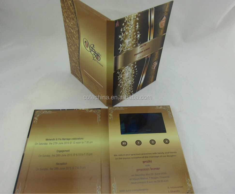 4.3\'\' Customized Lcd Wedding Card Design From Indian/wedding ...