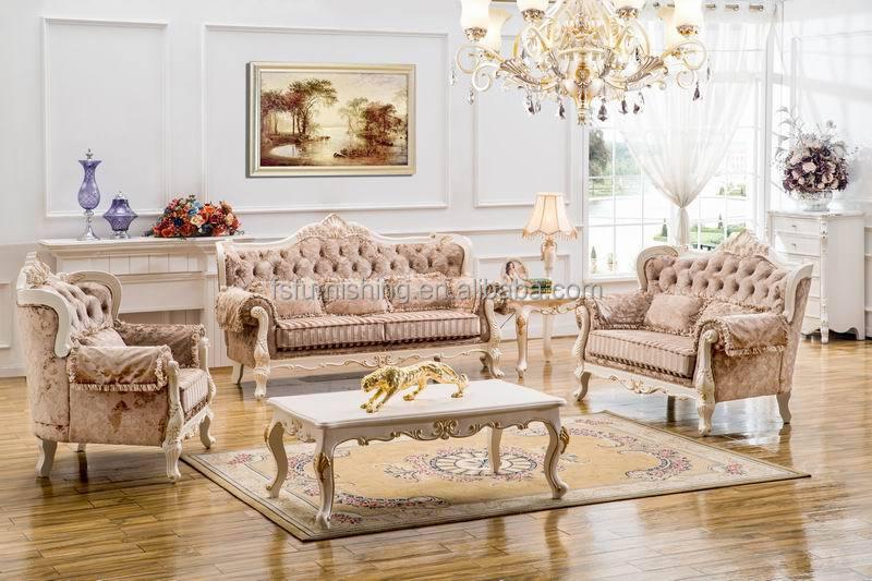 Kb058 2015 New Design Cream White On Sale Wooden Velvet Fabric Leather Living