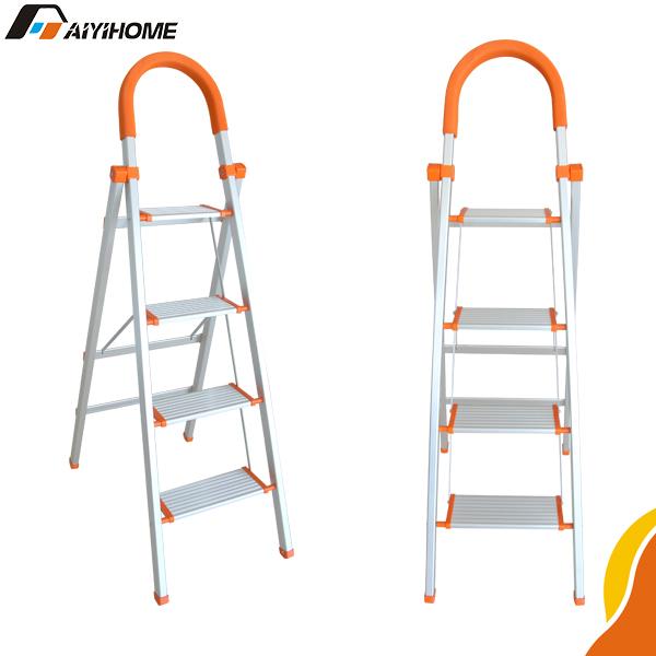 Lightweight Folding Aluminum Ladder,Domestic Aluminium Folding Stairs,Portable  Aluminum Stairs