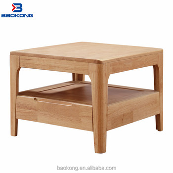 Modern Design Solid Wood Small Corner Table Living Room Square ...