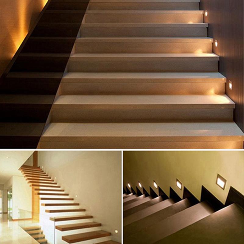 5pcs hot sale high quality stairs lights recessed led stair light arandela 100 240v 1 5w wall. Black Bedroom Furniture Sets. Home Design Ideas