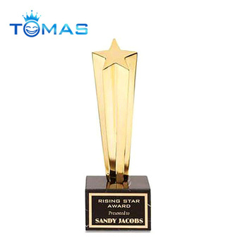 Novelty Design Rising Star Metal Custom Award Trophy